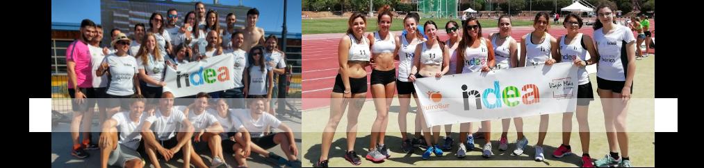 Nadadores y atletas en el Campeonato de Andalucía
